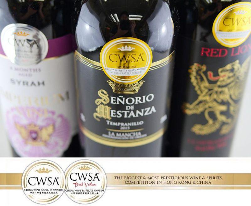 """VINOS & BODEGAS HA SALIDO VICTORIOSA CON SENDOS PREMIOS PARA SUS VINOS EN """"CWSA CHINA WINE & SPIRITS AWARDS"""""""