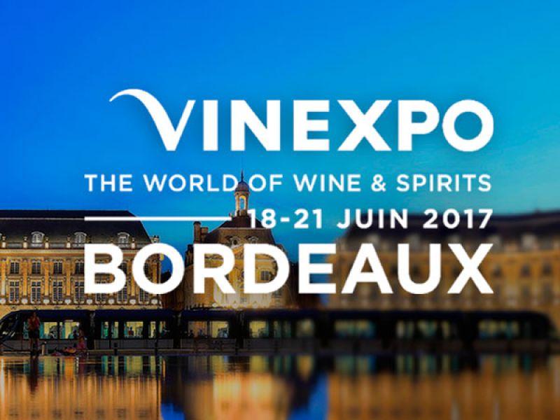 VISÍTANOS EN VINEXPO 2017 QUE TENDRÁ EN EL PARC DES EXPOSITIONS DE BORDEAUX LAC (FRANCIA) DEL 18 AL 21 DE JUNIO