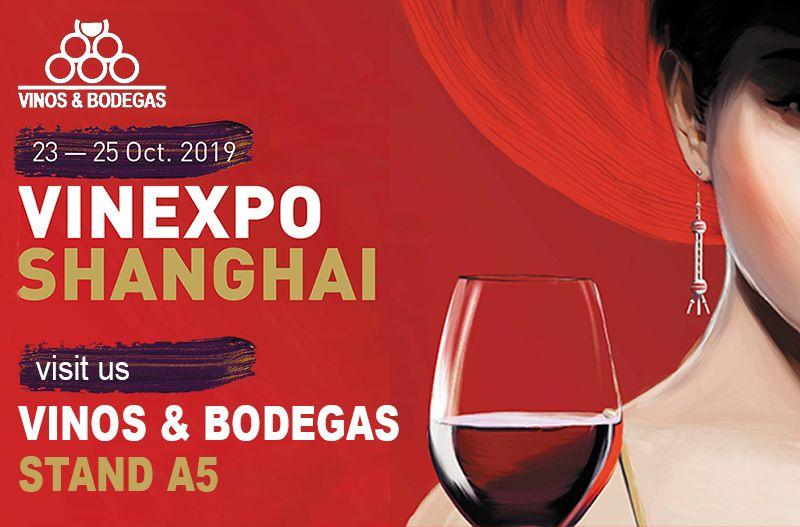 LES ESPERAMOS EN VINEXPO SHANGHAI DEL 23 AL 25 DE OCTUBRE DE 2019